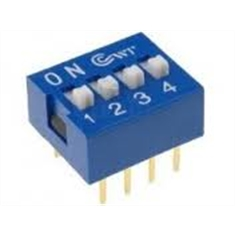 DIP SWITCH 4 VIAS - Código: 4666