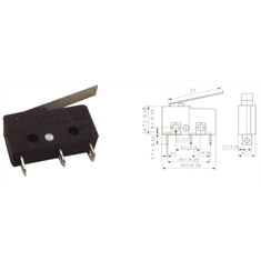 CHAVE MICRO-SWITCH KW11-3Z-5-23MM PT 3T