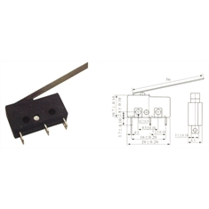 CHAVE MICRO-SWITCH KW11-3Z-5 3T 5A 56MM