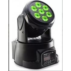 Mini Moving 7 Leds De 12/12w Rgbw Dmx Wash Head Quadriled
