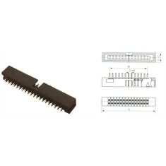 CONECTOR HEADER DS-1013 40PINOS