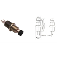 CHAVE PUSHBUTTON PBS-110 2T NA PT