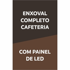 Enxoval Completo Cafeteria | Com Painel LED (B4)
