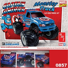 Snapit 1/32 - CAPTAIN AMERICA Monster Truck - AMT - SNAPIT 1/32 - CAPTAIN AMERICA MONSTER TRUCK - AMT