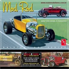 1929 - Ford Model A Roadster Branco - 2 Kits AMT - 1/25