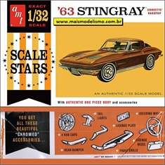 1963 - Chevy Corvette Stingray Hardtop - AMT - 1/32
