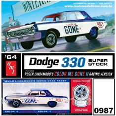 1964 - Dodge 300 Super Stock - AMT - 1/25