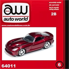 2014 - Dodge VIPER SRT Vinho - Auto World - 1/64 - 2014 - Dodge VIPER SRT - Auto World - 1/64