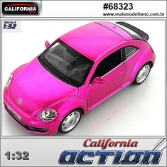 Volkswagen FUSCA Rosa Metálico - California Action - 1/32 - Volkswagen FUSCA - California Action - 1/32
