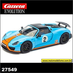 Porsche 918 Spyder Gulf no.2 - Carrera Evolution - 1/32 - Porsche 918 Spyder - Carrera Evolution - 1/32