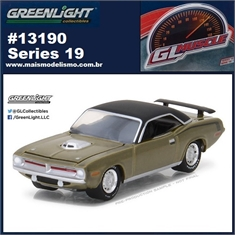 GLMUSCLE 19 - 1970 Plymouth Hemi Cuda - Greenlight - 1/64 - 1970 Plymouth Hemi Cuda - Greenlight - 1/64