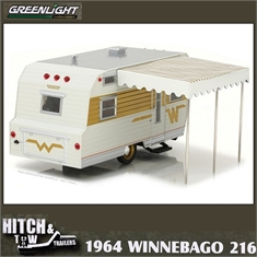 1964 - Trailer Winnebago 216 - Greenlight - 1/24