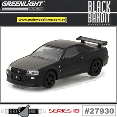 BLACK BANDIT 18 - 2000 Nissan Skyline GT-R (R34) - Greenlight - 1/64 - 2000 Nissan Skyline GT-R (R34) - Greenlight - 1/64