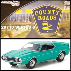 CR 6 - 1973 AMC JAVELIN AMX Verde - Greenlight - 1/64 - 1973 AMC JAVELIN AMX - Greenlight - 1/64