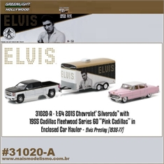 ELVIS - 1955 Cadillac FLETWOOD Series 60 - Greenlight Hitch and Tow - 1/64 - 1955 Cadillac FLETWOOD S. 60 - Greenlight Hitch and Tow - 1/64
