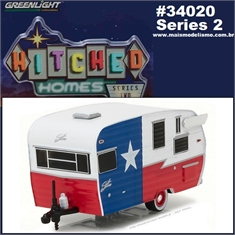 SHASTA 15 Airflyte Trailer Texas - Greenlight - 1/64 - SHASTA 15 Airflyte Trailer - Greenlight - 1/64