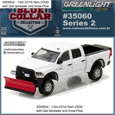 2016 - Dodge RAM 2500 Snow Plow - Greenlight - 1/64 - 2016 Dodge RAM 2500 Snow Plow - Greenlight - 1/64