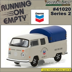 1974 - VW Kombi Cab Dupla CHEVRON - Greenlight - 1/64 - 1974 VW Kombi Cab Dupla CHEVRON - Greenlight - 1/64