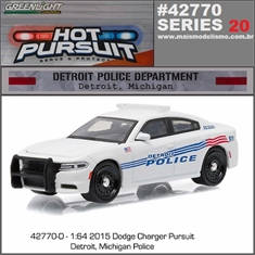 HP 20 - 2015 Dodge Charge DETROIT Police - Greenlight - 1/64 - 2015 Dodge Charge DETROIT Police - Greenlight - 1/64