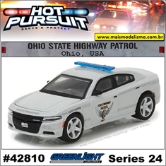 HP 24 - 2016 Dodge Charger Ohio Police - Greenlight - 1/64 - 2016 Dodge Charger Ohio Police - Greenlight - 1/64