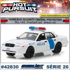 HP 26 - 2011 Ford Crown Victoria Homeland Police - Greenlight - 1/64 - 2011 Ford Crown Victoria Homeland Police - Greenlight - 1/64