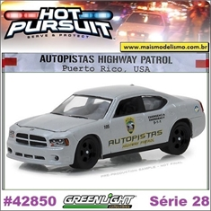 HP 28 - 2008 Dodge Charger Autopistas Highway Patrol - Greenlight - 1/64 - 2008 Dodge Charger Autopistas Highway Patrol - Greenlight - 1/64