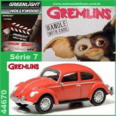 GL HOLLYWOOD  7 - Volkswagen Fusca GREMLINS - Greenlight - 1/64 - Gremlins - Volkswagen Fusca - Greenlight - 1/64