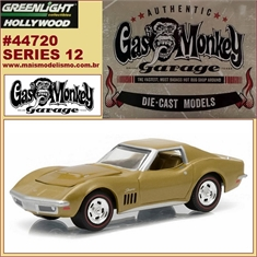 GL HOLLYWOOD 12 - 1969 Chevrolet CORVETTE - Greenlight - 1/64 - Gas Monkey Garage - 1969 Chevrolet CORVETTE - Greenlight - 1/64