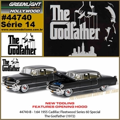 GL HOLLYWOOD 14 - 1955 Cadillac Fleetwood Series 60 - Greenlight - 1/64 - The Godfather - 1955 Cadillac Fleetwood Series 60 - Greenlight - 1/64