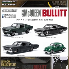 GL BULLITT DIORAMA 4 Carros - Greenlight - 1/64 - GL BULLITT DIORAMA 4 Carros Filme - Greenlight - 1/64
