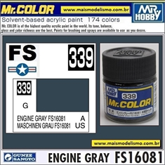 Tinta Gunze Laca Acr Mr Color C339 ENGINE GRAY FS16081 Brilho - 10ml