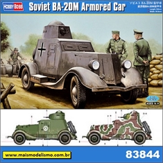 Soviet BA-20M Armored Car - Hobby Boss - 1/35 - Soviet BA-20M Armored Car - Hobby Boss - 1/35