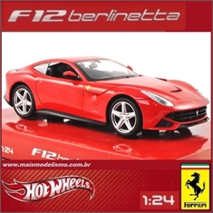 FERRARI F12 BERLINETTA Vermelha - Hot Wheels - 1/24