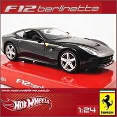 FERRARI F12 BERLINETTA Preta - Hot Wheels - 1/24