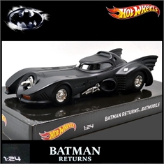 BATMÓVEL 1989 - Batman Returns - Hot Wheels - 1/24 - BATMÓVEL - Batman Returns - Hot Wheels - 1/24