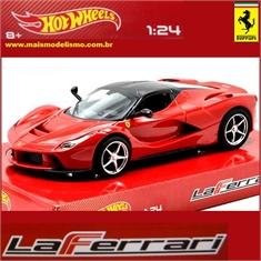 Ferrari LaFERRARI Vermelha - Hot Wheels - 1/24 - LaFERRARI Vermelha - Hot Wheels - 1/24