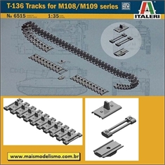 Esteiras T-136 Tracks for M108/M109 Series - Italeri - 1/35 - Esteiras T-136 Tracks for M108/M109 series - Italeri - 1/35