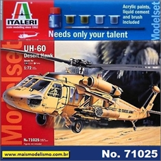 Helicóptero UH-60 Desert Hawk - Model-Set Italeri - 1/72