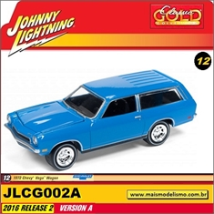 1972 - Chevy Vega Wagon Azul - Johnny Lightning - 1/64