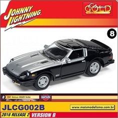 1981 - Datsun 280ZX Turbo Preto - Johnny Lightning - 1/64