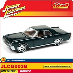 1961 - Lincoln Continental Verde - Johnny Lightning - 1/64 - 1961 - Lincoln Continental Preto - Johnny Lightning - 1/64