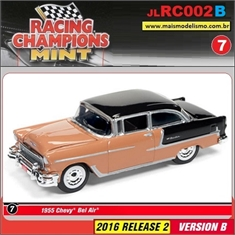 1955 - Chevy Bel Air Flesh/Preto - Johnny Lightning - 1/64