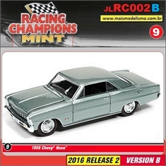 1966 - Chevy Nova Azul - Johnny Lightning - 1/64