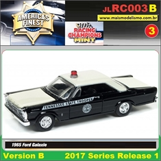 1965 - Ford Galaxie Police Preto - Johnny Lightning - 1/64 - 1965 - Ford Galaxie Tennessee State Trooper - Johnny Lightning - 1/64
