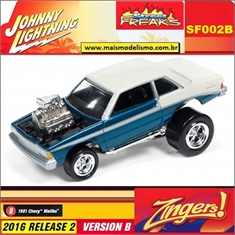 1981 - Chevy Malibu Azul - Johnny Lightning Street Freaks - 1/64