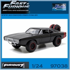 Furious 7 - 1970 Doms Dodge Charger R/T OFF ROAD - Jada - 1/24 - 1970 - Doms Dodge Charger R/T OFF ROAD - Jada - 1/24