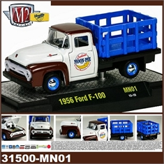 1956 - FORD F-100 MOON PIE Branco/Marrom - M2M - 1/64 - 1956 - FORD F-100 MOON PIE - M2M - 1/64