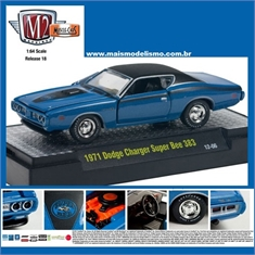 1971 - Dodge CHARGER Super Bee 383 Azul - M2 Machines - 1/64 - 1971 - DODGE CHARGER SUPER BEE 383 AZUL - M2M - 1/64