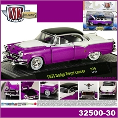 1955 - Dodge Royal Lancer Roxo / Preto - M2M - 1/64