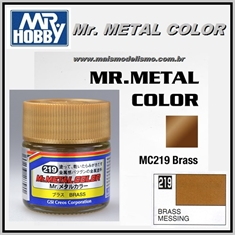 Tinta Gunze Mr Metal Color MC219 LATÃO Metálico - 10ml